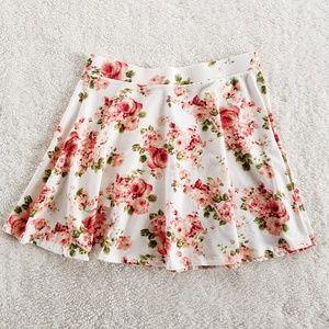 Forever 21 Floral Print Circle Skirt